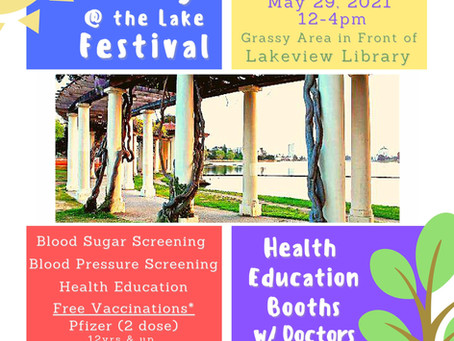 Get Healthy @ the Lake Festival May 29th 12-4pm