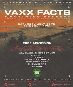 Vaxx Facts Awareness Concert Saturday July 10th