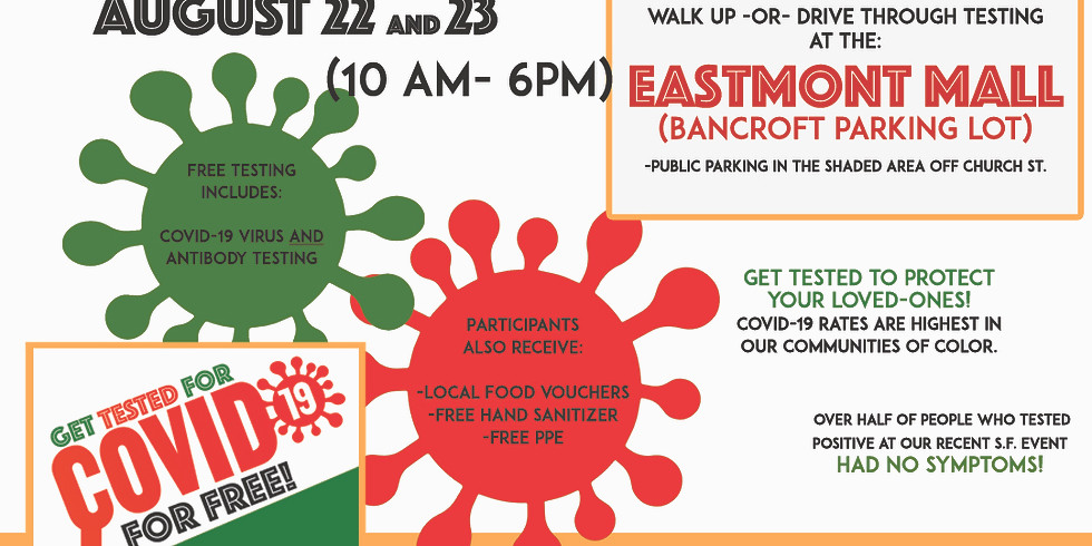 United In Health (East Oakland): A FREE Covid-19 Testing Event
