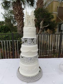 Fairy tale Castle Wedding Cake