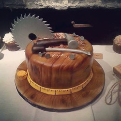 #absolutelycake #groomscake  #woodcarving #woodworking #sawdust