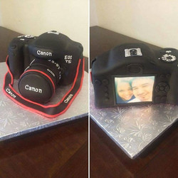 The perfect groom's cake for a picture perfect couple! #absolutelycake #groomscake #photographers #p