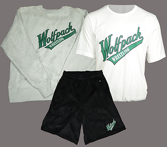 Custom sweatshirts, t-shirt, shorts, and apparel