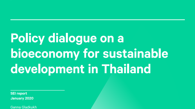 Policy dialogue and on a bioeconomy for sustainable development in Thailand