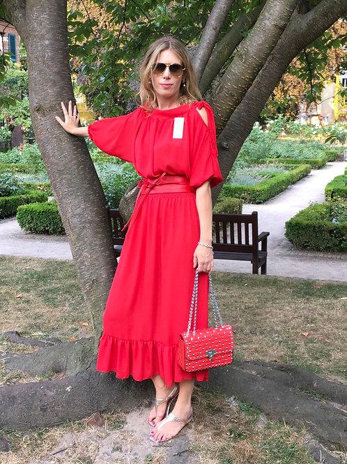 Maxi-Kleid Marilyn mit Schleife rot | shop