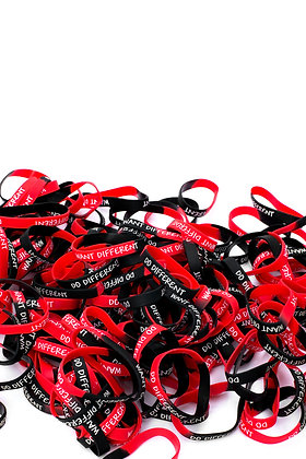 Want Different Do Different™ WRISTBAND