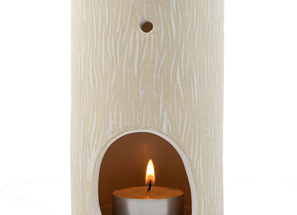 Wood Grain White Oil Burner
