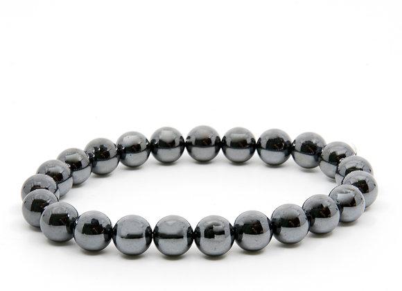 Hematite Medium Beaded Bracelet