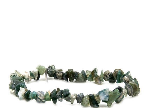 Moss Agate Chip Braislets