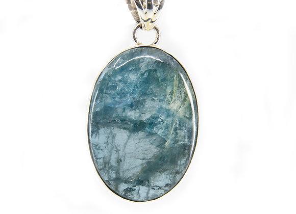 Aquamarine Sterling Silver Pendent