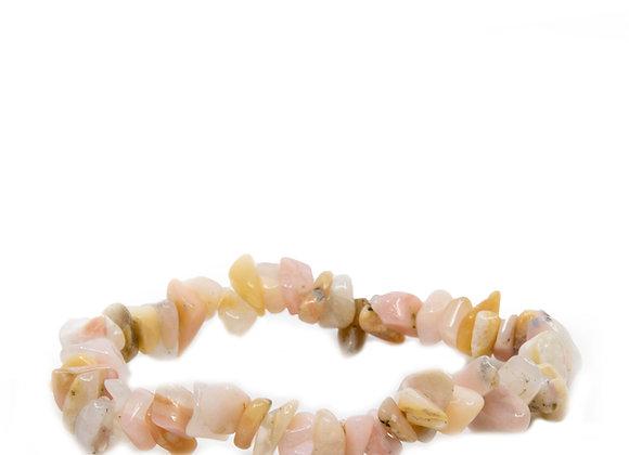 Pink Peruvian Opal Chip Braislets