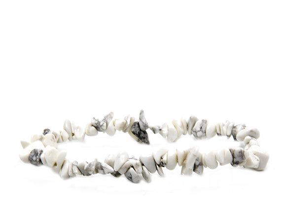 Howlite Chip Bracelet