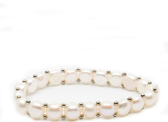 Pearl Bracelet with Small Dividers