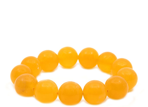 Orange CalciteTop Grade Large Beaded Bracelet