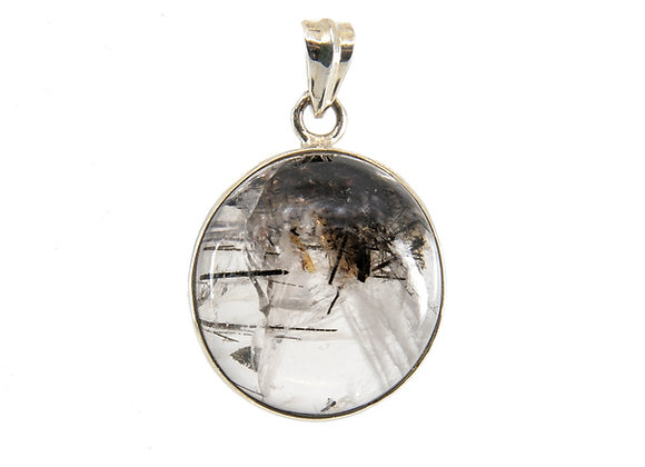 Tormalated Quartz  Pendent In Sterling Silver