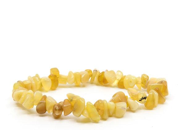 Yellow Opal Chip Bracelet