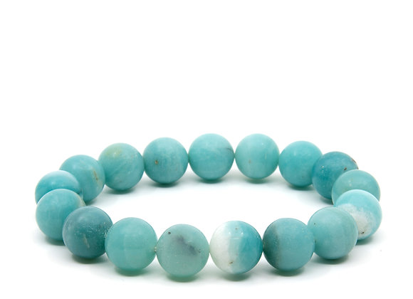 Amazonite LargeBeaded Bracelet
