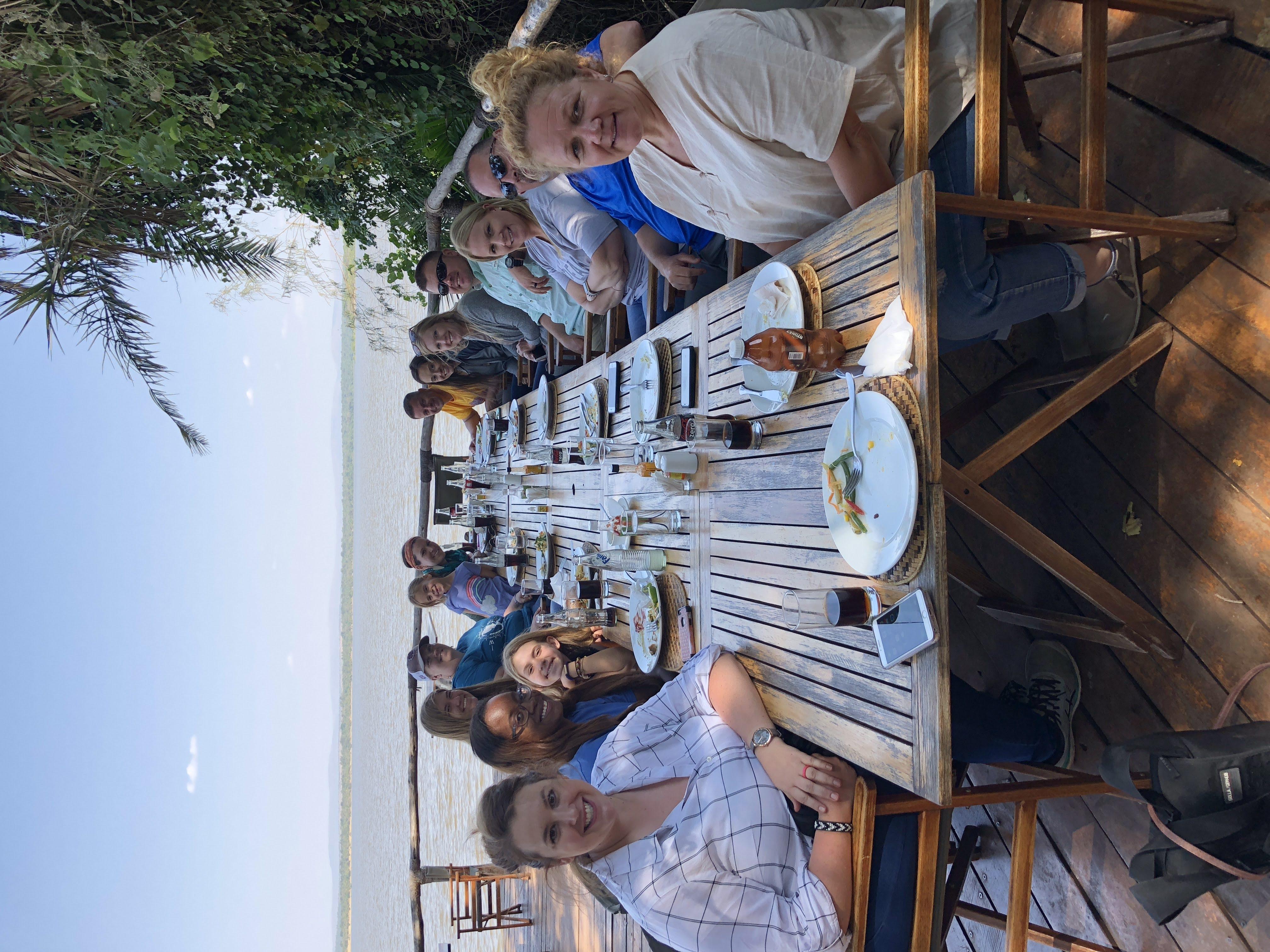 Dinner at Ruzizi Tented Lodge