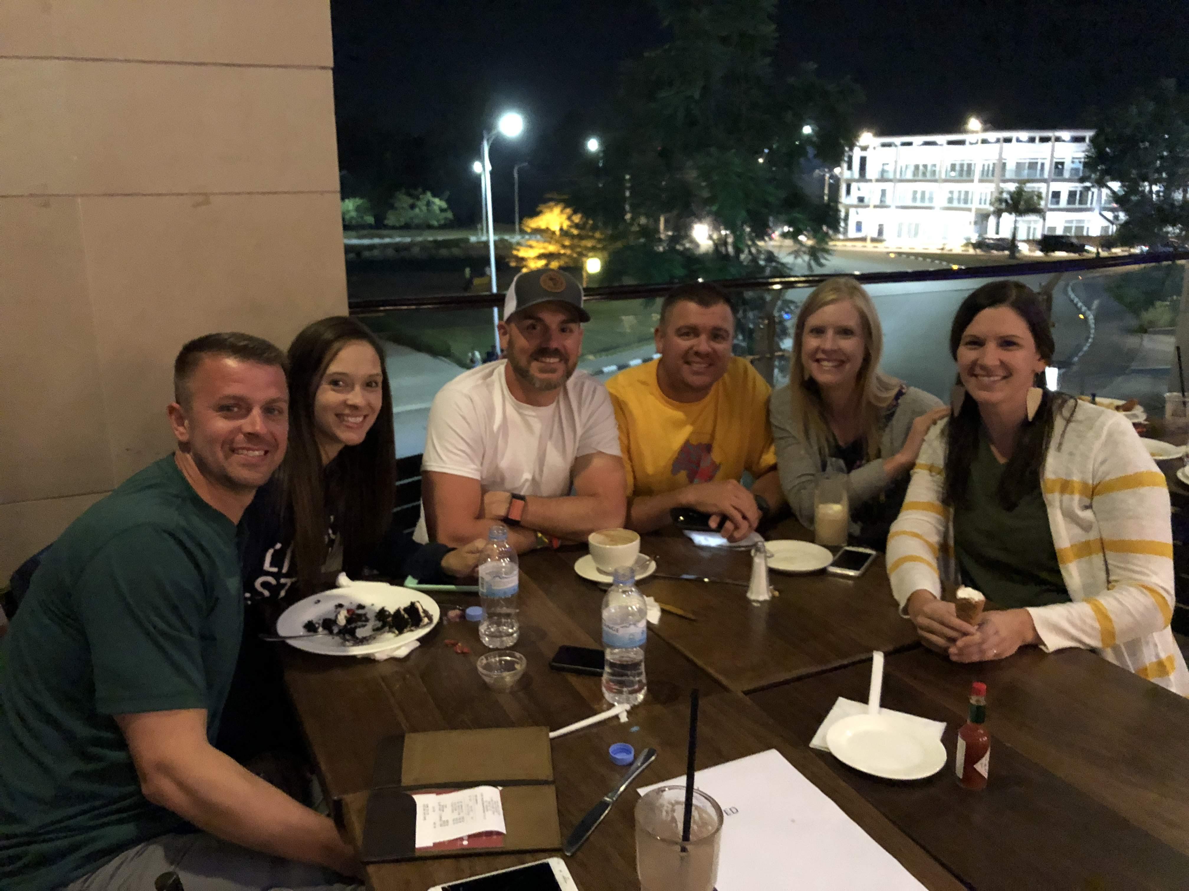 Rwanda team dinner at Java House