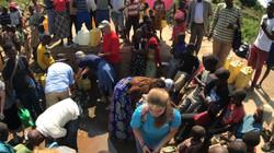 Feet washing in Rwanda
