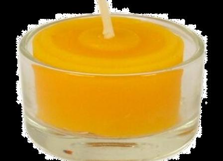 Bienenwachs Teelicht in Glas