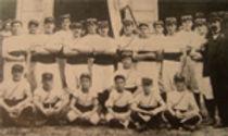 Avant 1900 un groupe de gymnastes