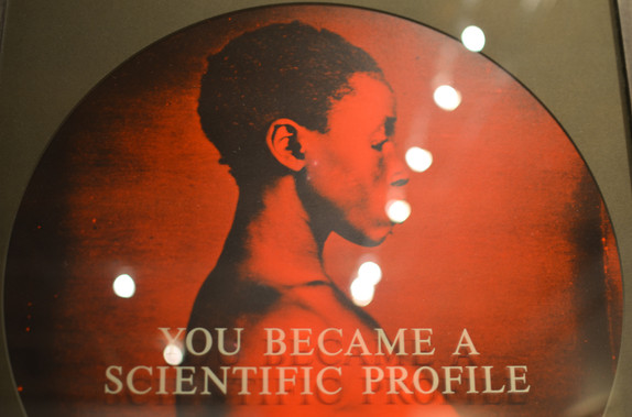 """detail from """"You Became a Scientifc Profile"""" (1995-6)"""