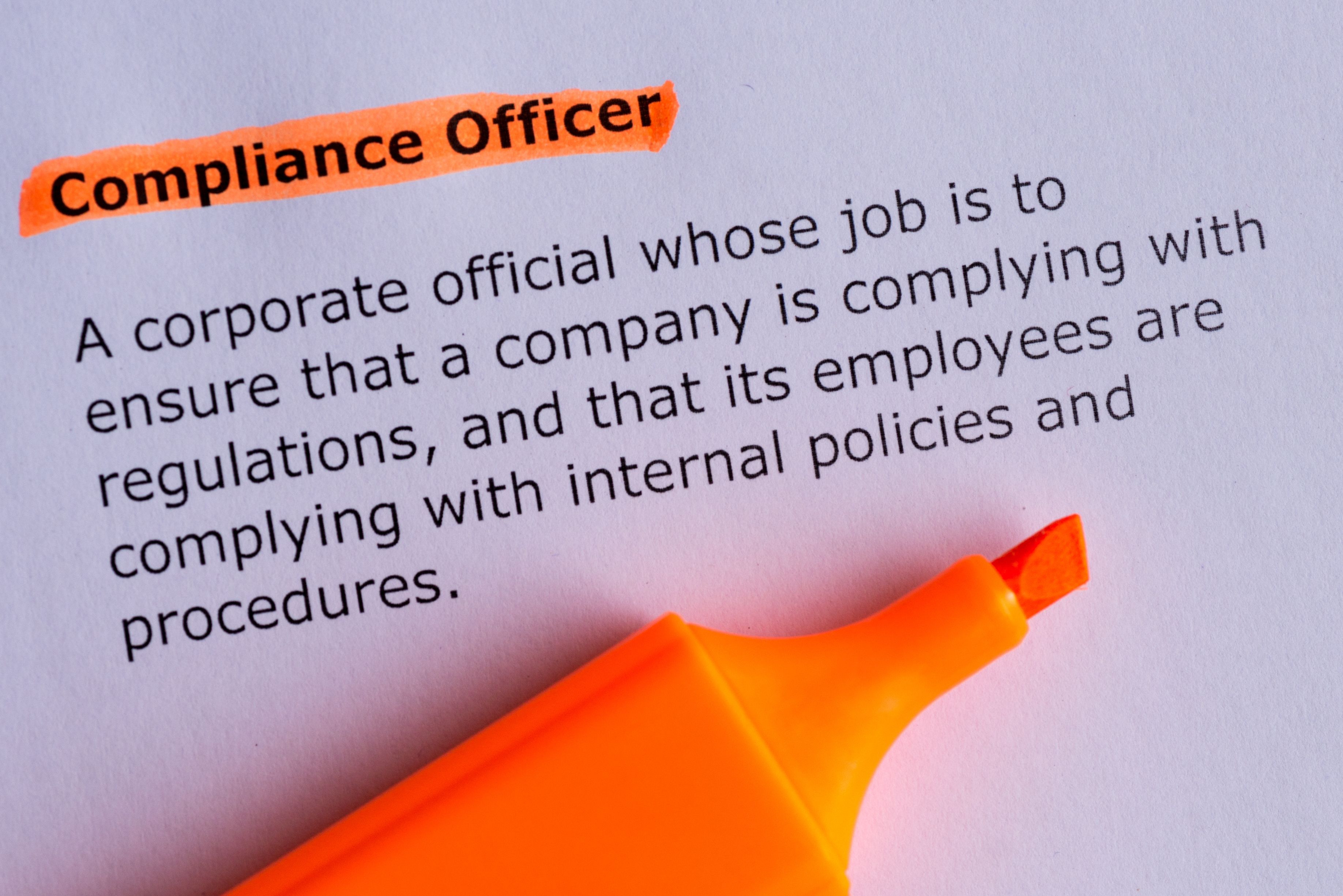 Role of the Compliance Officer