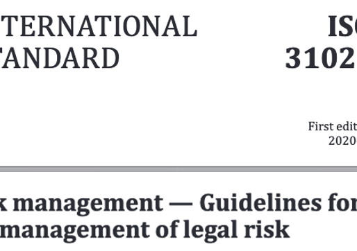 Manage Legal Risk with ISO 31022:2020