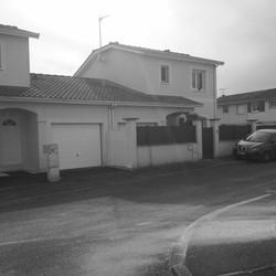 Surélévation d'un garage - Avant