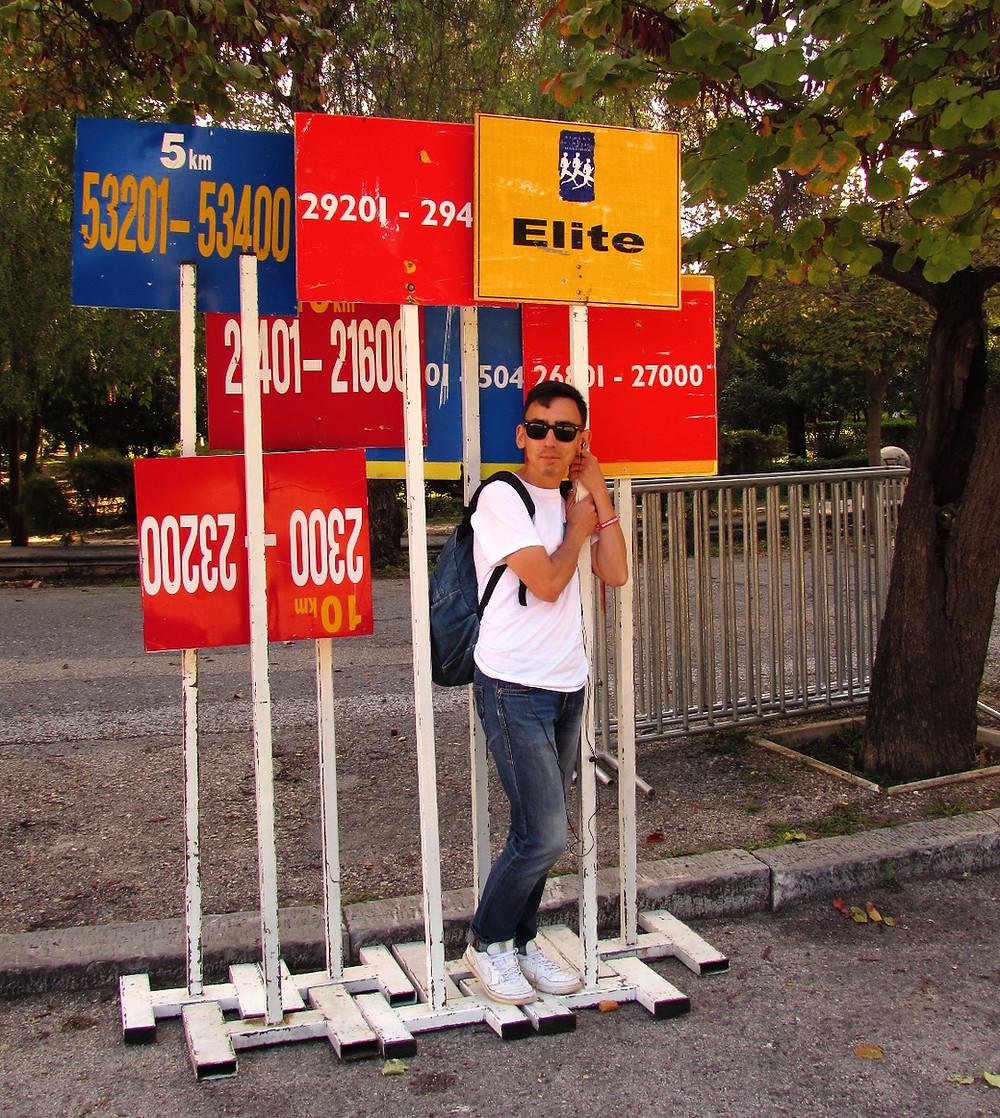 Афинский марафон - стартовые таблички