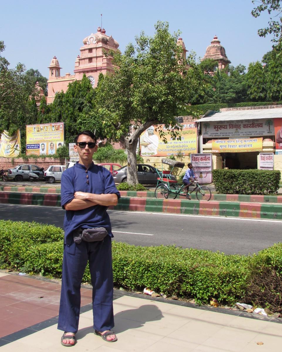 На фоне Бирла Мандир