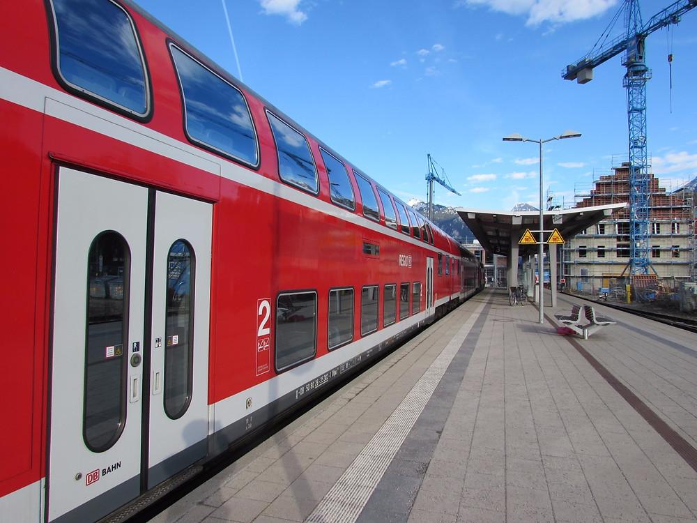 Двухэтажный поезд Фюссен-Мюнхен