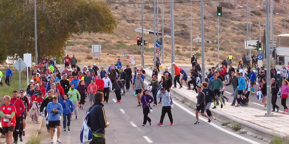 Перед стартом Афинского марафона