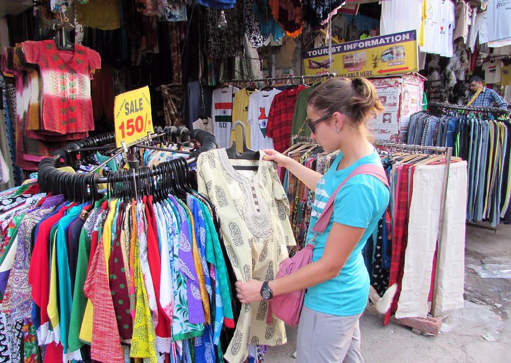 Покупка индийской одежды