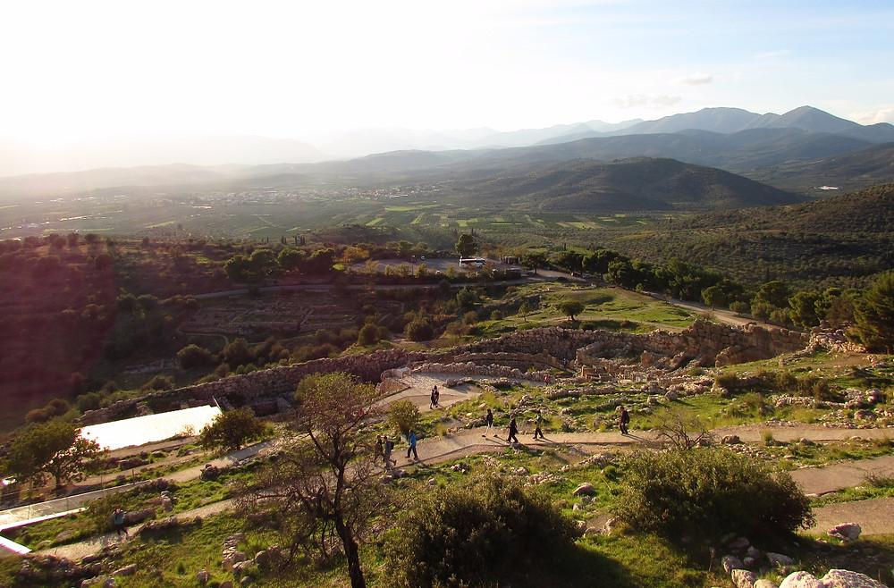 Виды с микенского холма