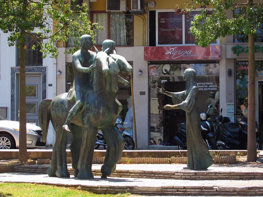 Памятник Эротокриту и Аретузе