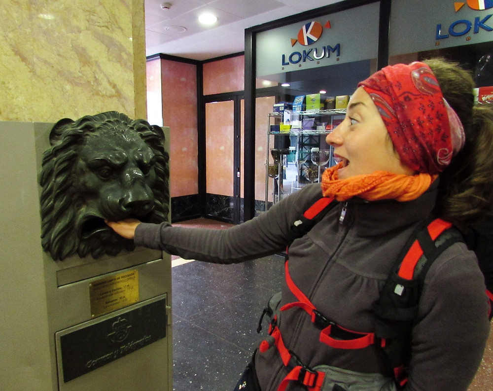 Почтовый ящик-лев