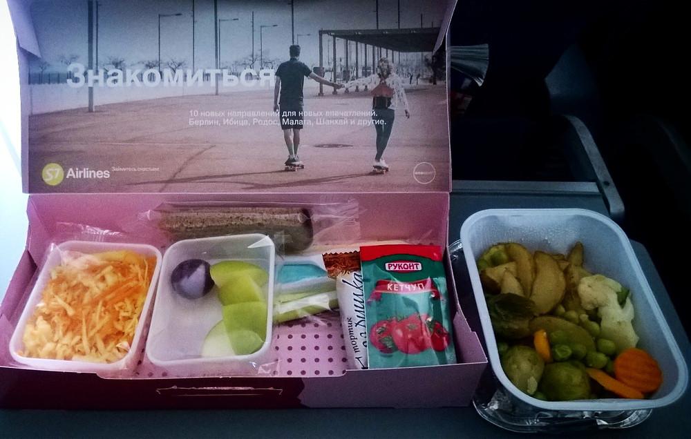 Еда на борту S7
