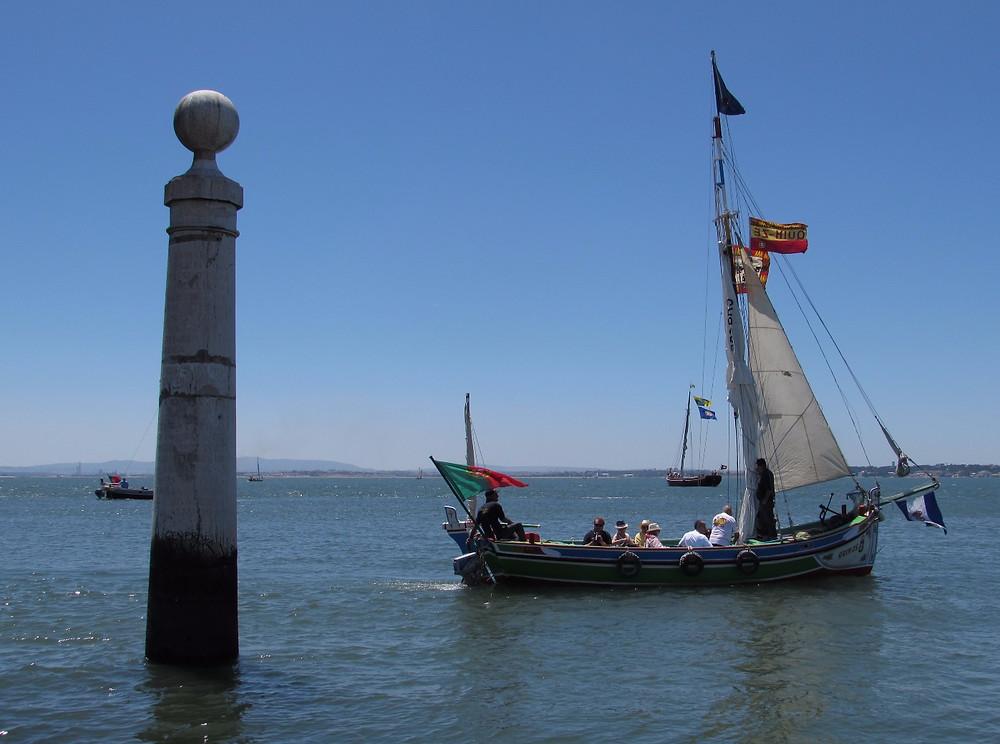 Лодки на реке Тежу