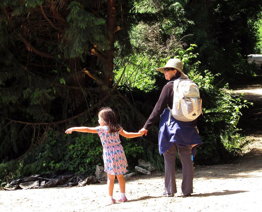 Пилигрим с ребенком