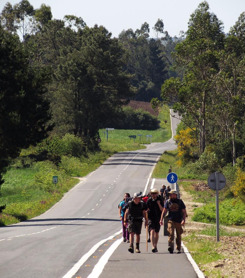 Пилигримы идут по дороге