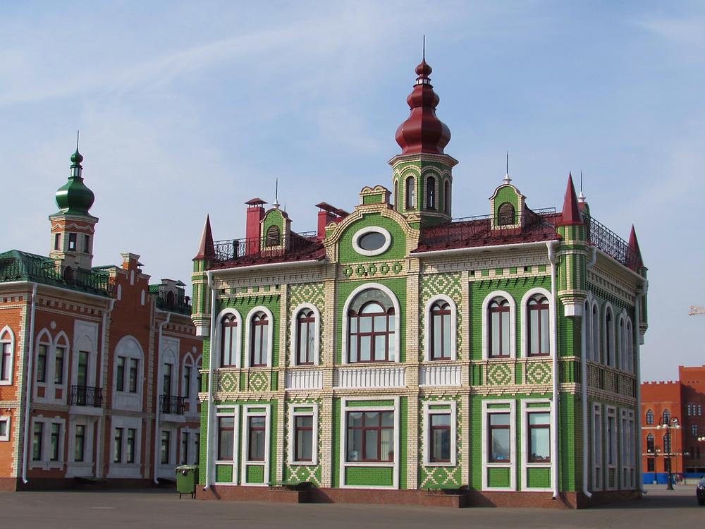 Цветные домики