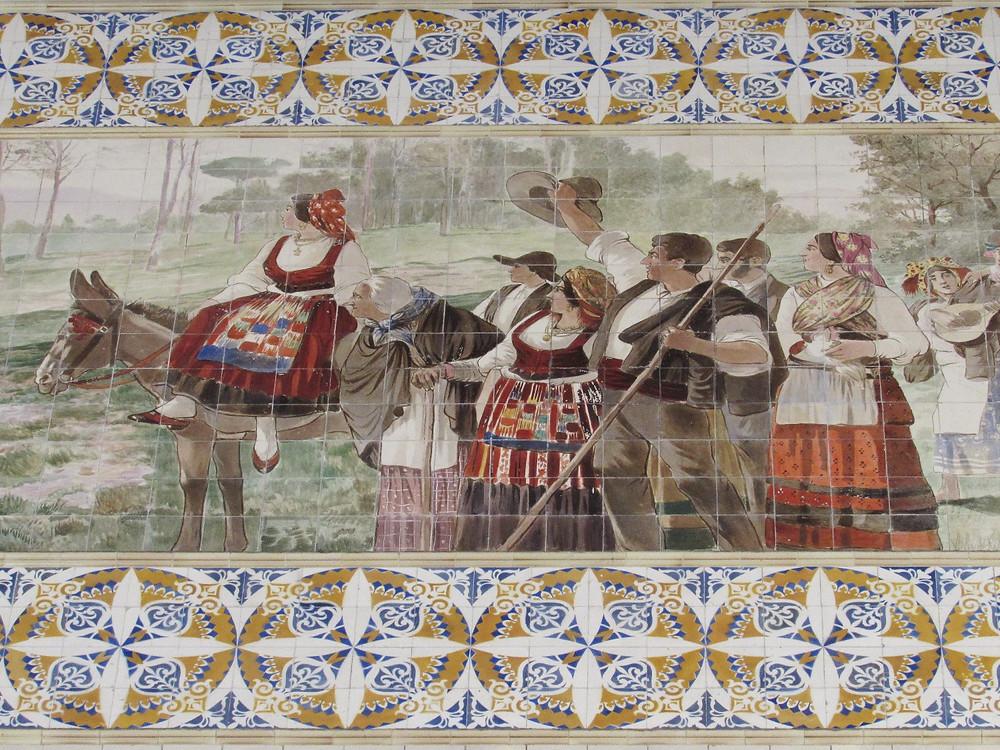 Азулежу на вокзале Порту