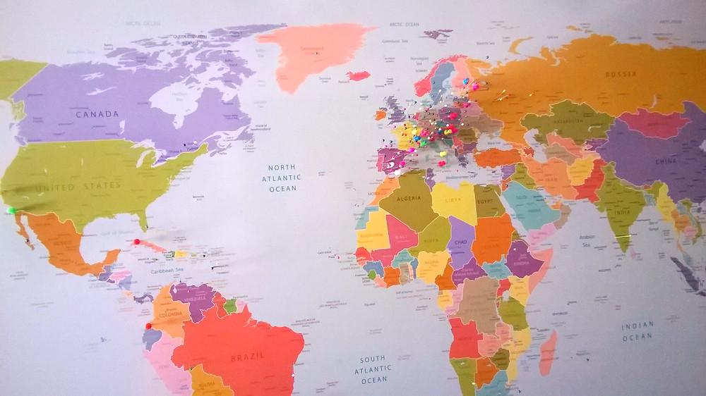 Карта в хостеле
