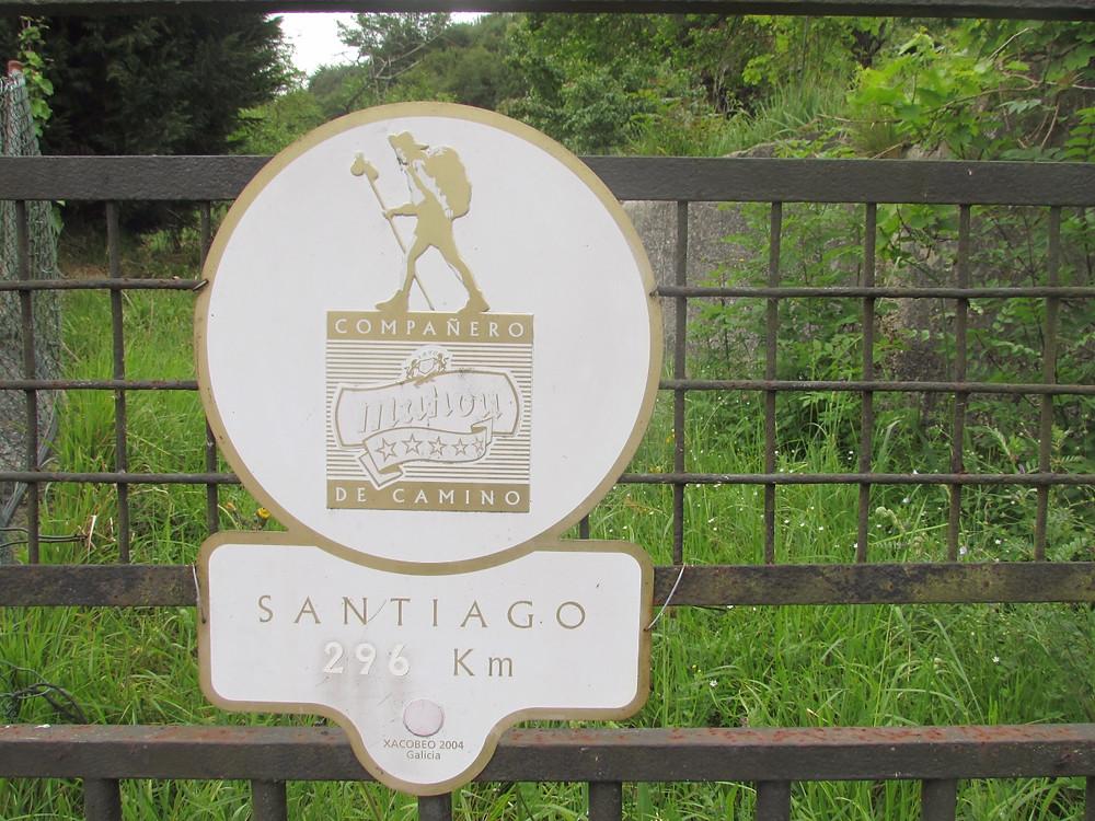 Указатель на камино де Сантьяго