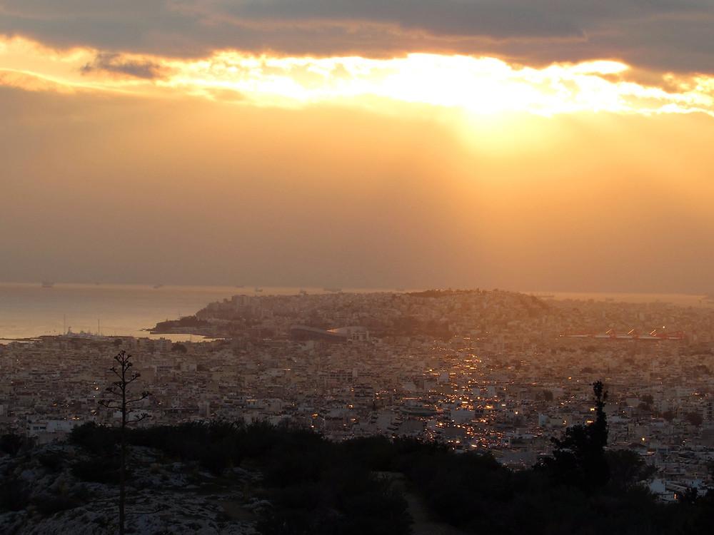 Закат на холме Филопаппу