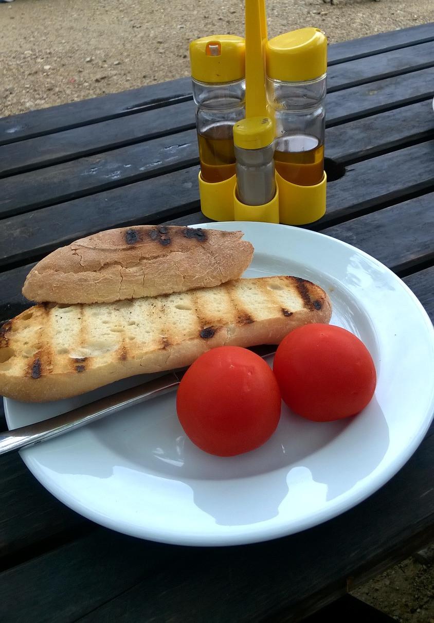 Тосты с томатом