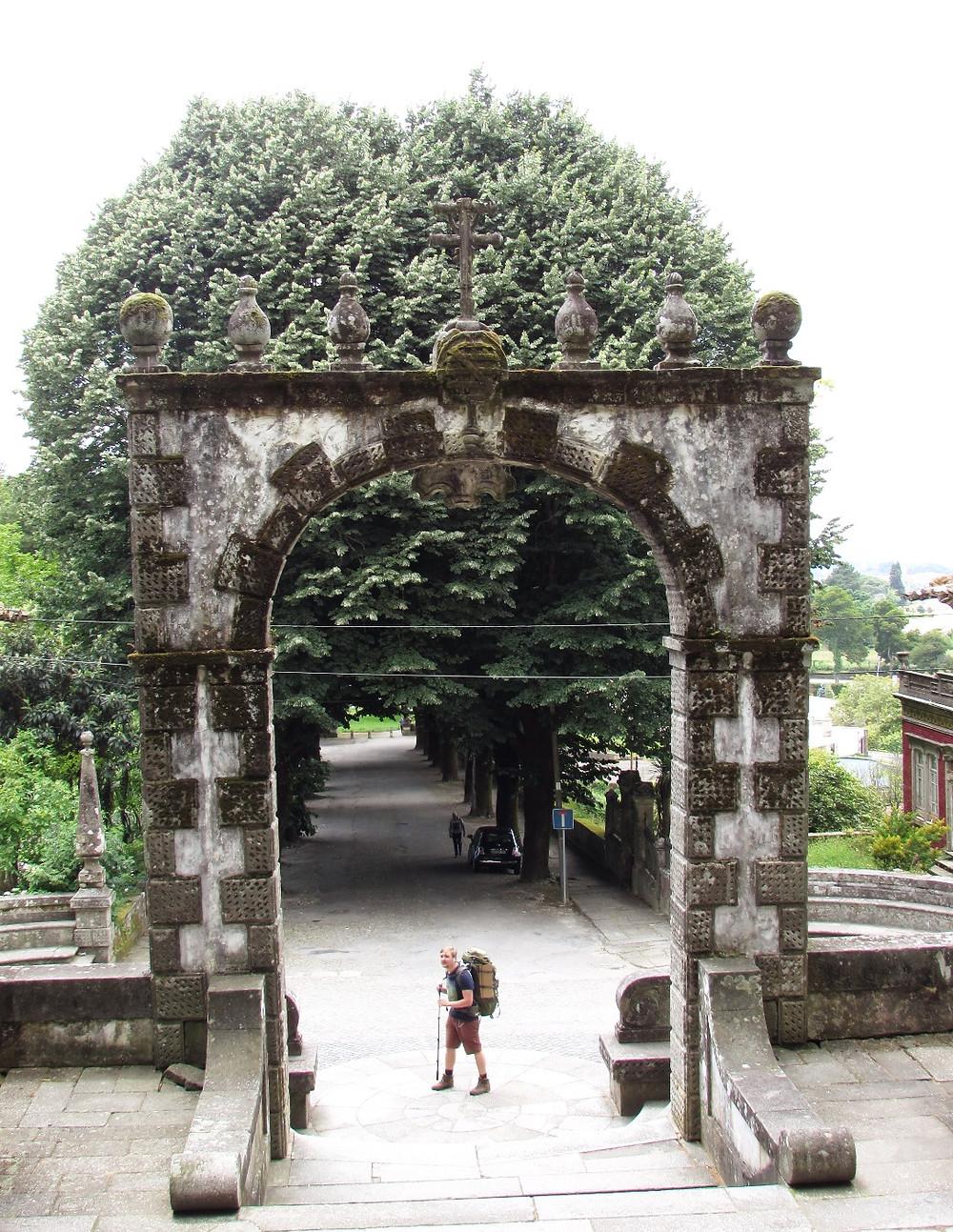 Паломник перед лестницей