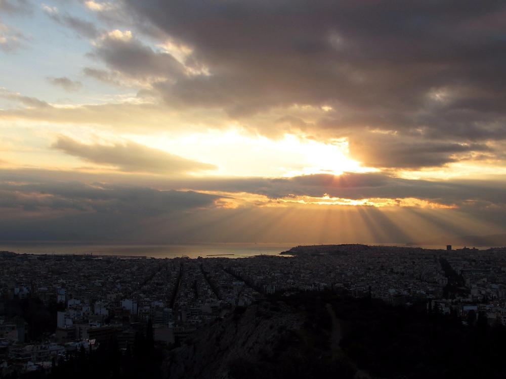 Закат на холме Филоппапу
